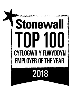Logo for Stonewall Top 100 Employers