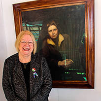 Deputy Presiding Officer with Lady Rhondda Portrait