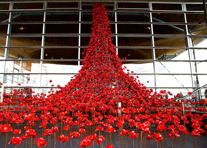Weeping Window at the Senedd
