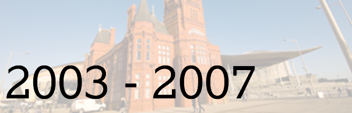 Picture of The Pierhead building, with dates 2003-2007 written across. This is headline image for Second Assembly events page