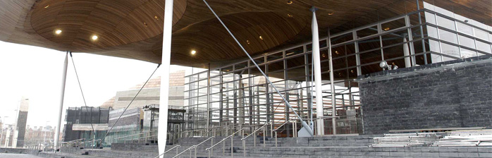 The Senedd, external