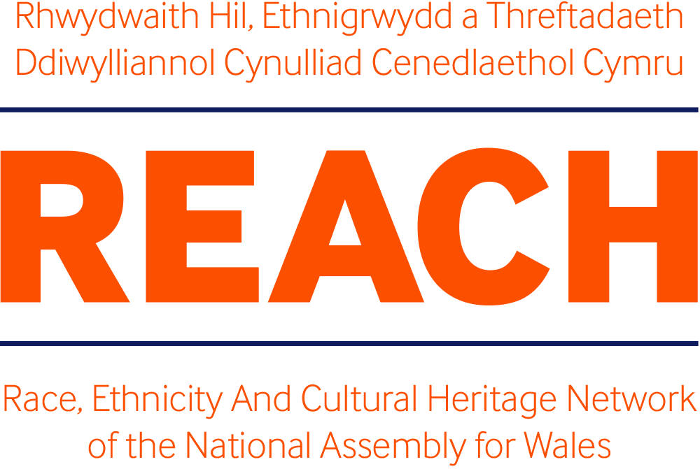 Logo for REACH, the Assembly's race, ethnicity and cultural heritage network