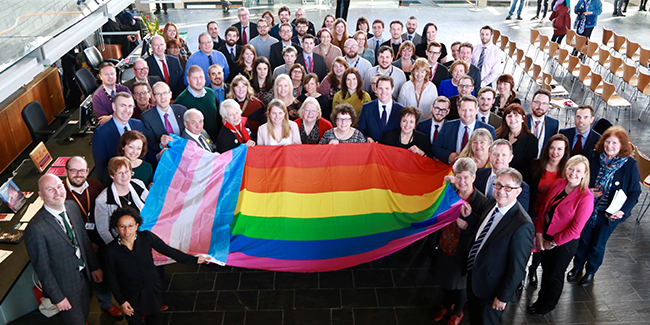 Assembly Wales celebrates its top ranking in the Stonewall workplace index