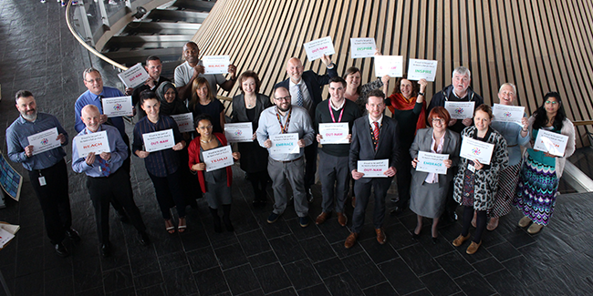 The National Assembly for Wales MINDFUL mental health and workplace equality network.