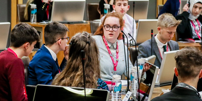 Discussion in the Welsh Youth Parliament