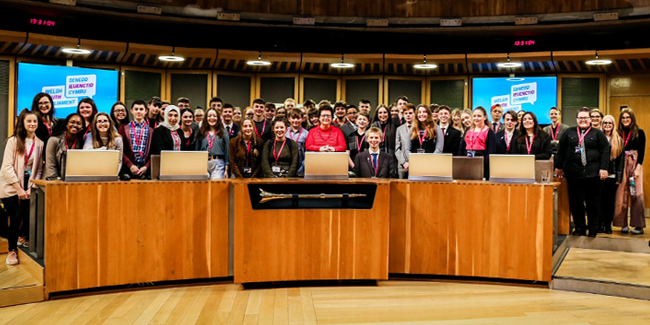 Members of the Welsh Youth Parliament