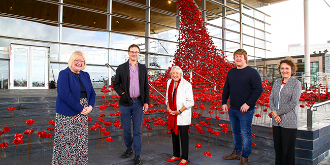 Weeping Window opening at the Senedd