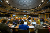 Members in the Siambr during Plenary