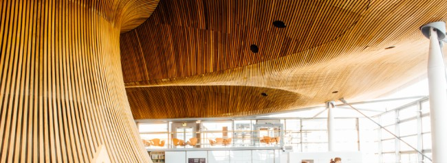 A view from inside the Senedd